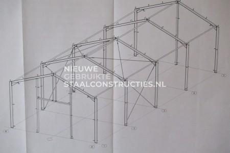 Nieuwe staalconstructie 8.00 x 20.00m (160m²)